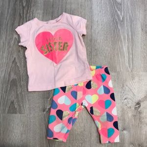 Other - Carter's top and capri legging set 9M